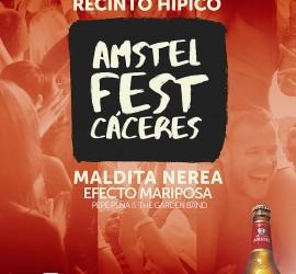 Cartel Amstel Fest en Feria Cáceres 2016