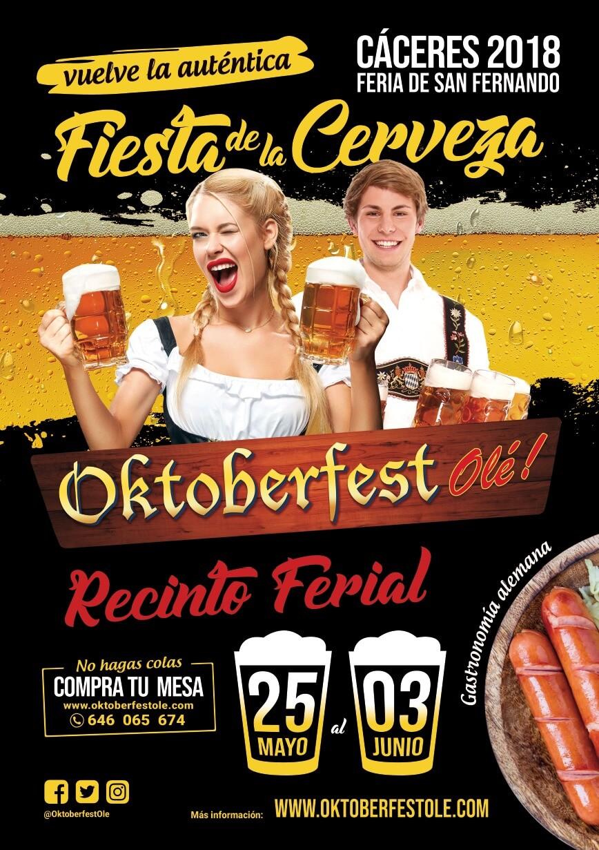 OktoberfestOle Caceres 2018 cartel